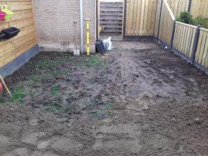 Tuin Rhoon voor het bestraten achtertuin