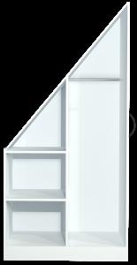 kledingkast voor het schuine dak